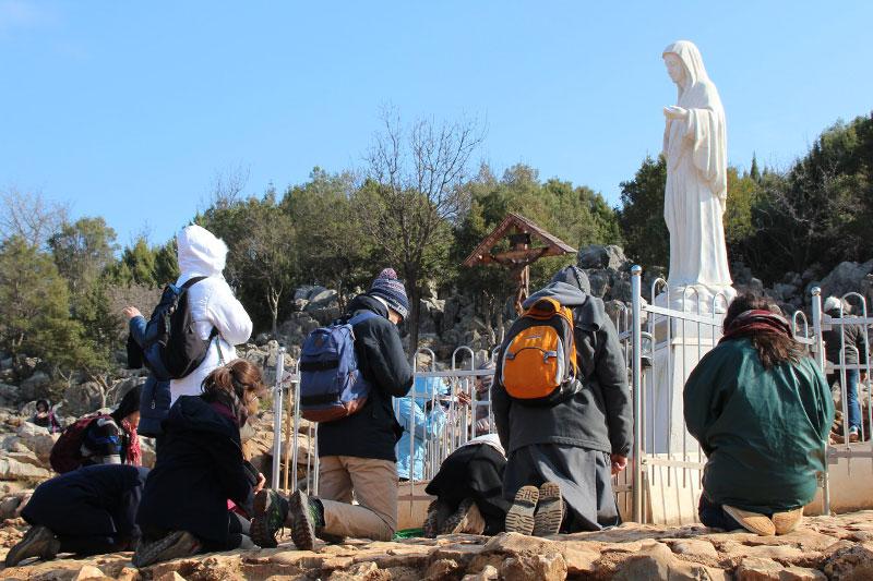 L'École de Vie en pèlerinage à Medjugorje